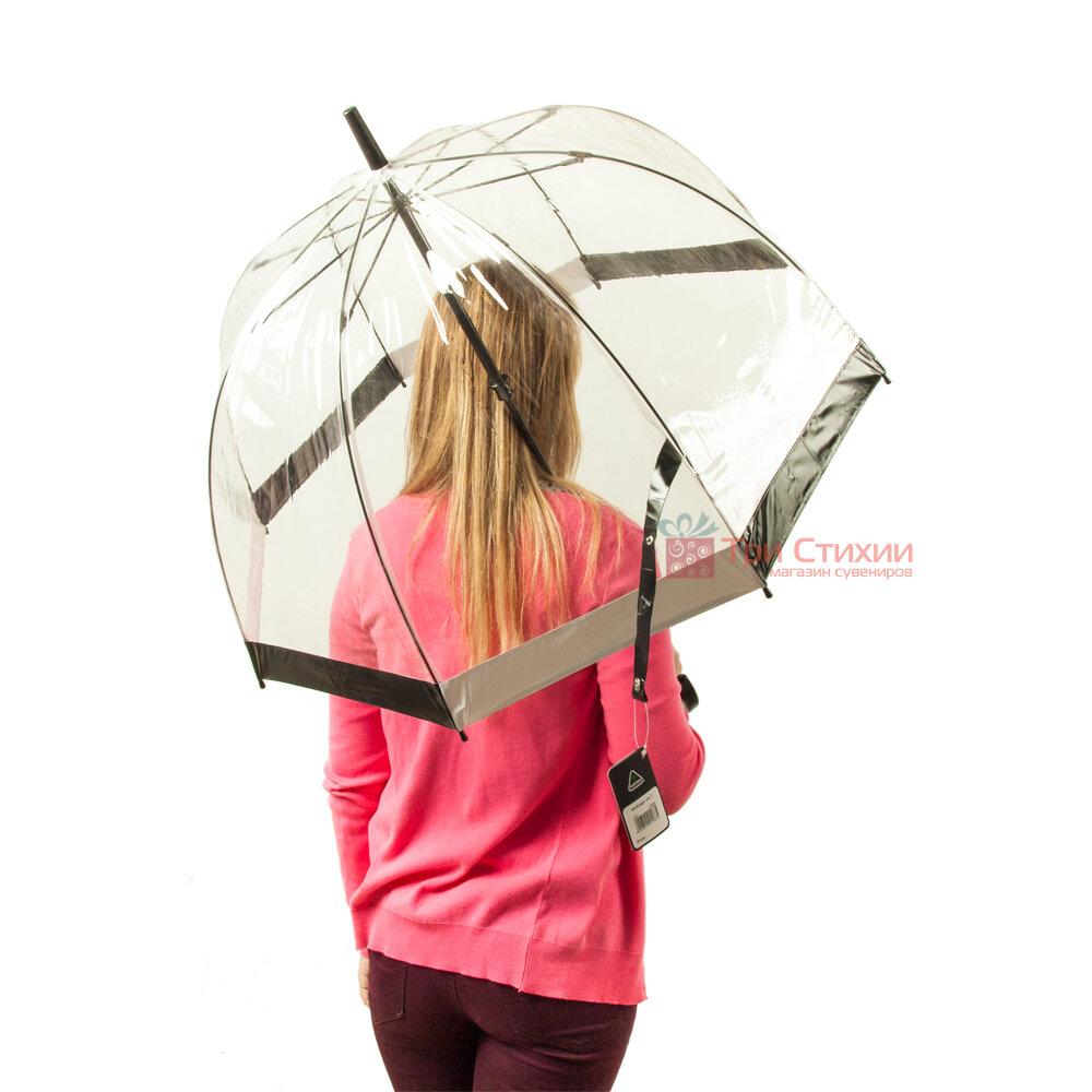 Зонт-трость женский Fulton Birdcage-1 L041 Black White (Черно-белый), фото 2