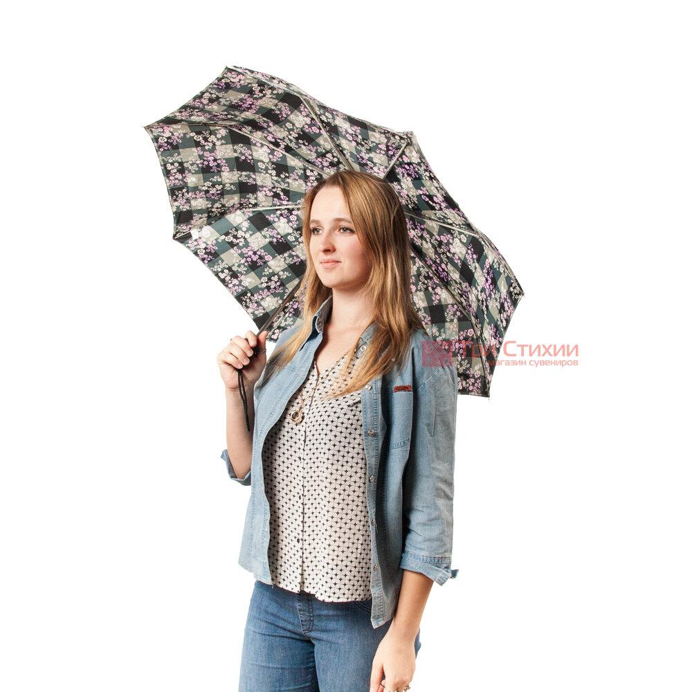 Зонт женский Fulton Open & Close-4 L346 Gingham Ditsy (Цветы), фото 6