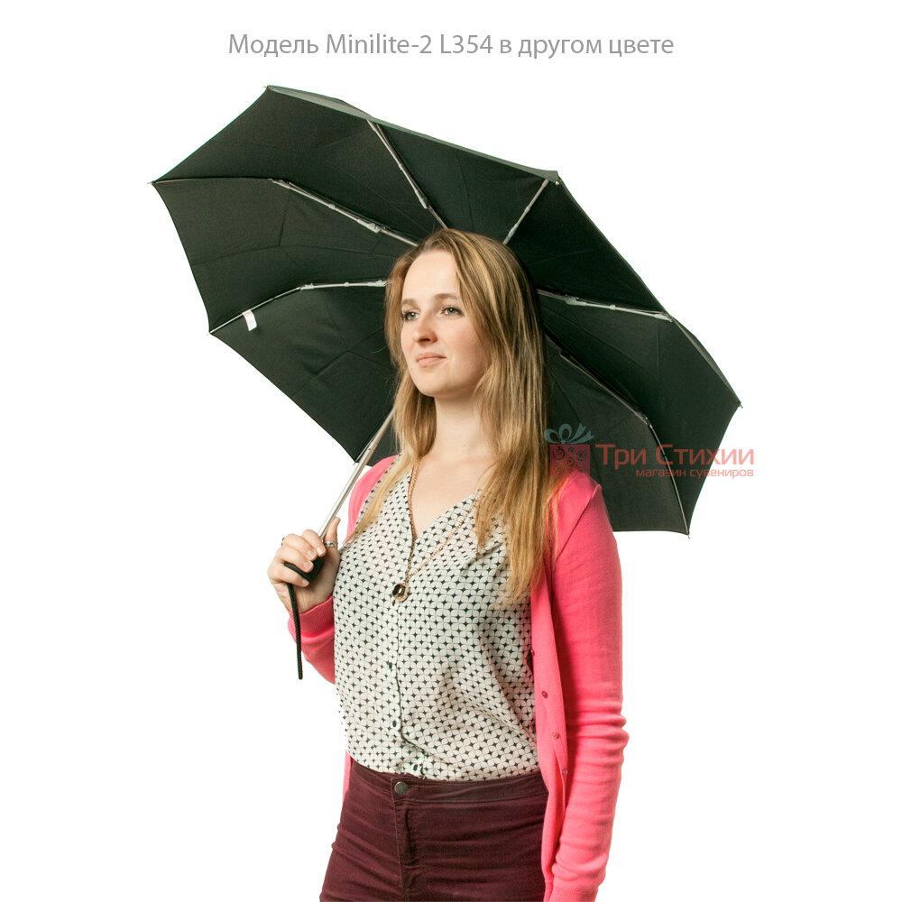 Зонт женский Fulton Minilite-2 L354 Painted Peonies (Рисованные Пионы), фото 6