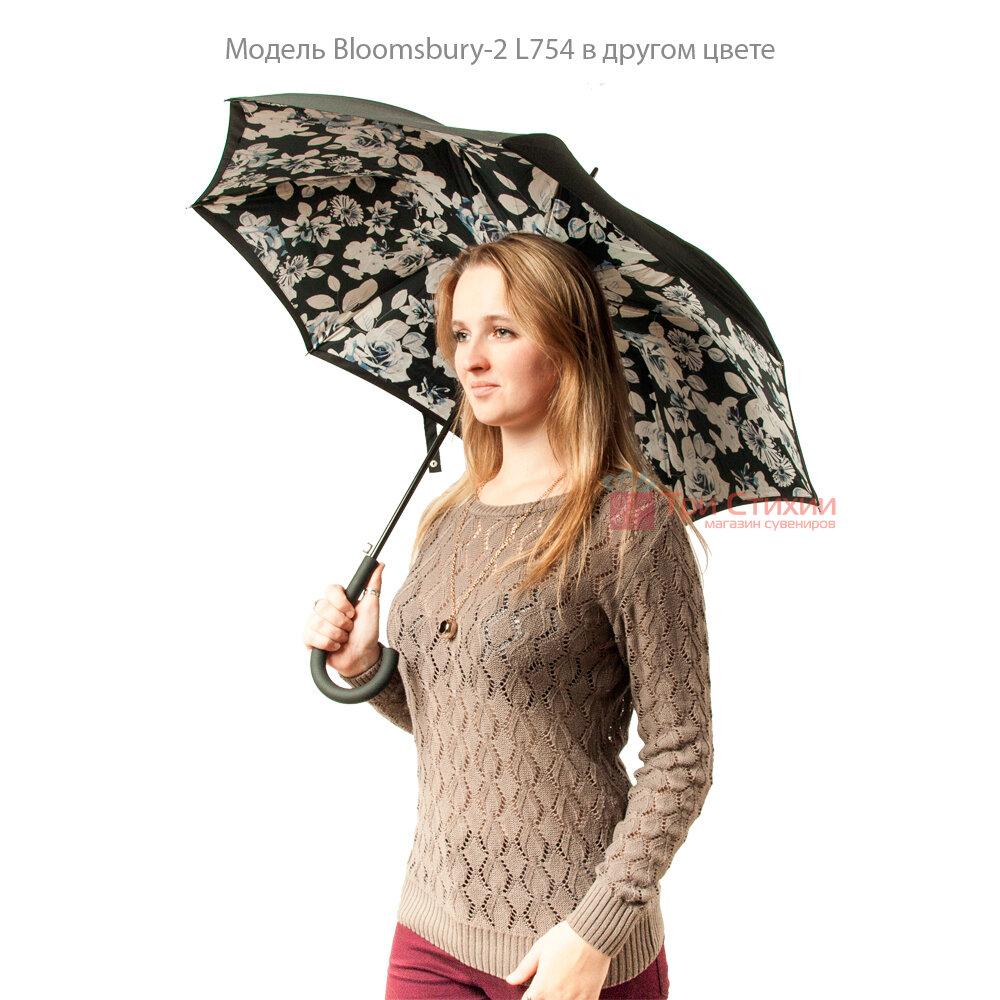 Зонт женский Fulton Bloomsbury-2 L754 Mono Bouquet (Черно-белый букет), фото 8