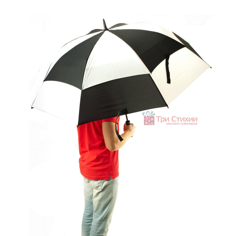 Зонт-гольфер Fulton Stormshield S669 Black White (Черно-Белый), фото 4