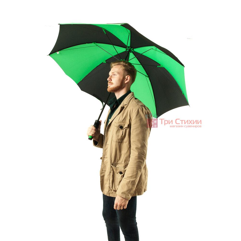 Зонт-гольфер Fulton Cyclone S837 Black Green (Черный/зеленый), фото 4