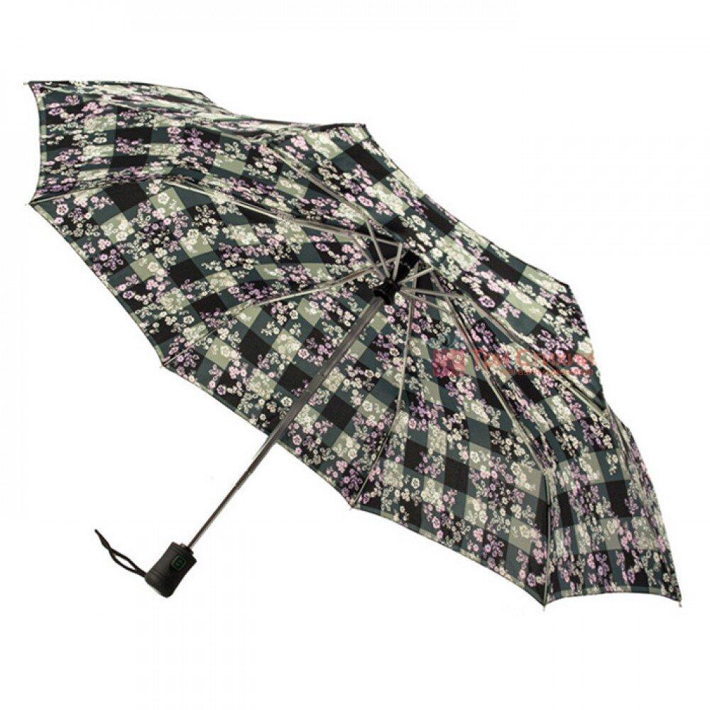 Зонт женский Fulton Open & Close-4 L346 Gingham Ditsy (Цветы), фото 3
