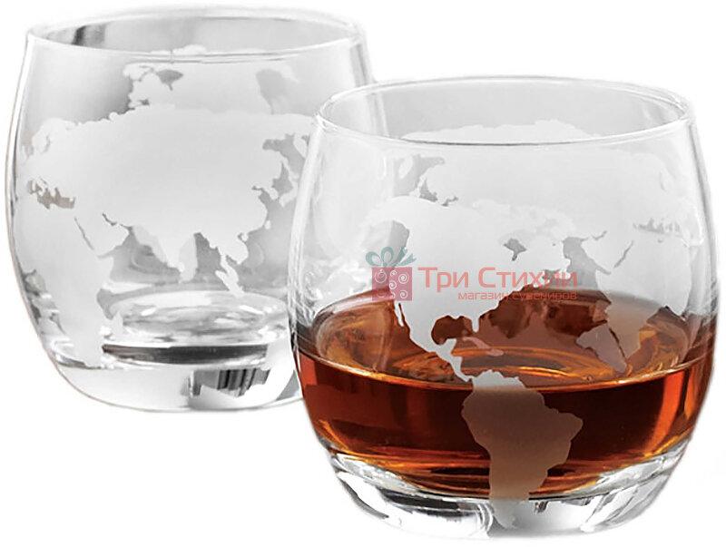 """Набір для віскі 2 склянки BST """"Навколо Світу"""" (640007), фото"""