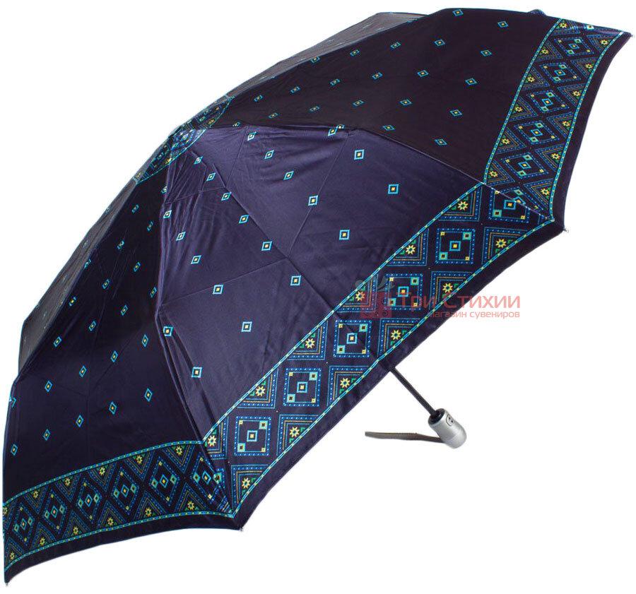 Зонт складной Doppler Satin 74665GFGMAU-2 автомат Синий кант, фото