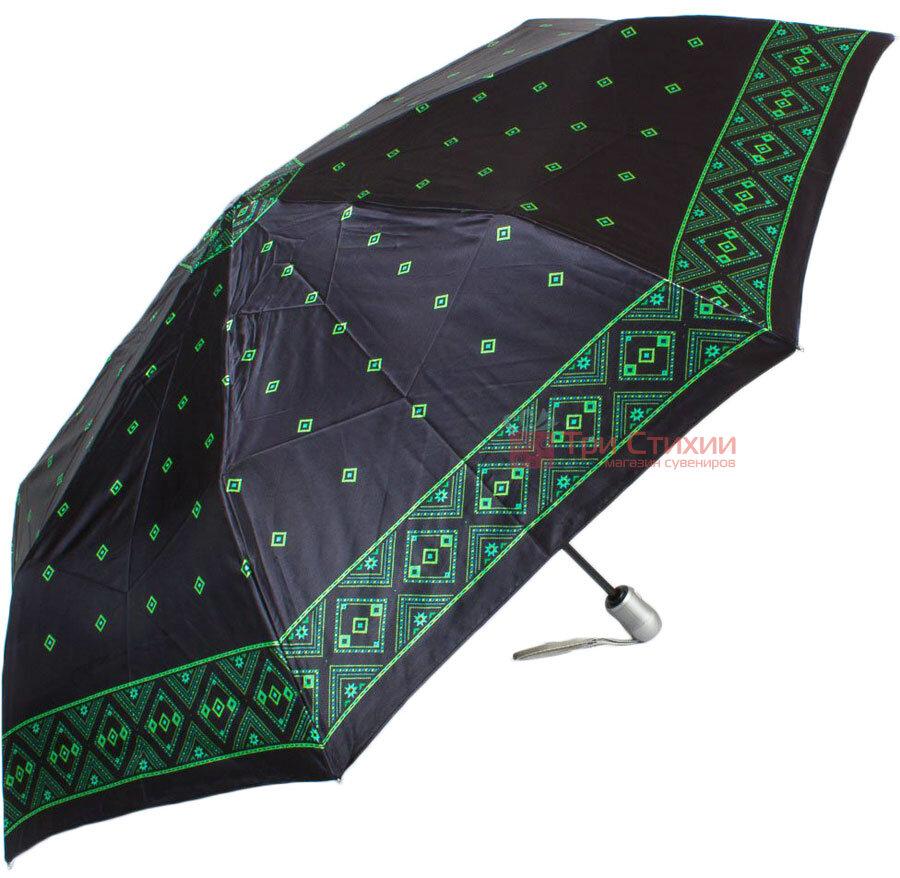 Зонт складной Doppler Satin 74665GFGMAU-3 автомат Зеленый кант, Цвет: Зеленый, фото