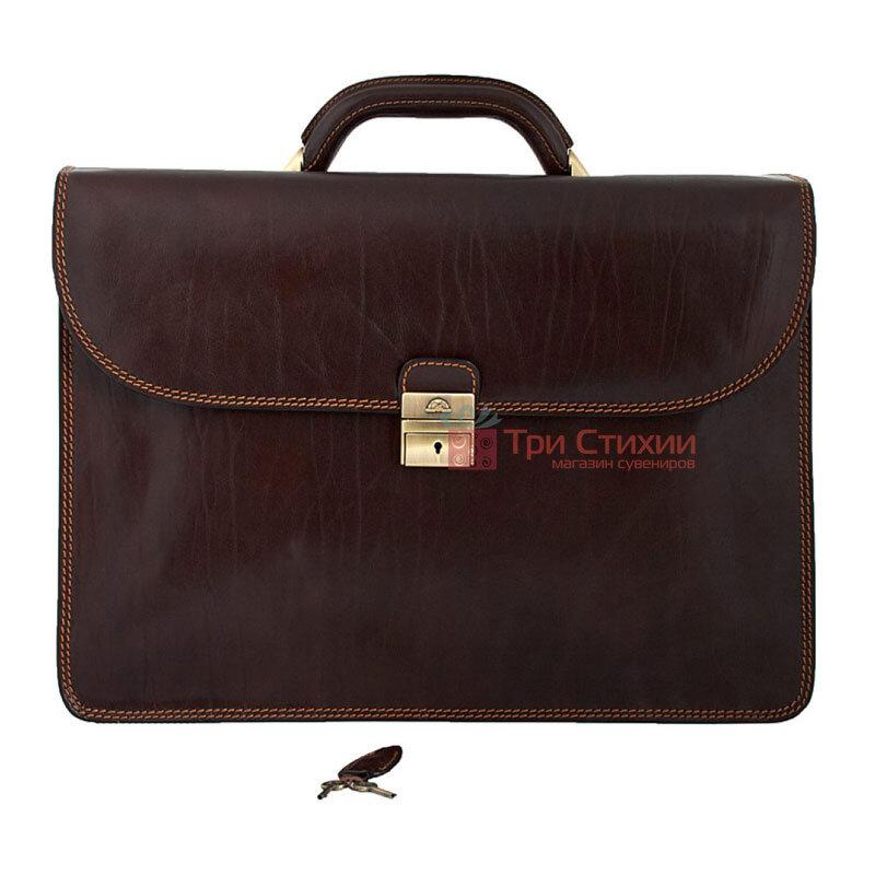 Портфель Tony Perotti Italico 8011-44-it Коричневый, Цвет: Коричневый, фото