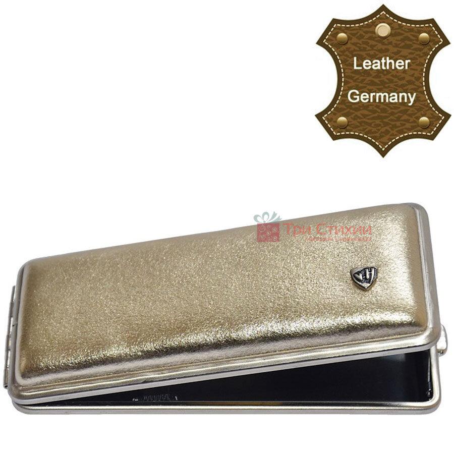 Портсигар VH 904264 для 8 KS/12 Super KS сигарет кожа Золотистый, Цвет: Золотистый, фото 2
