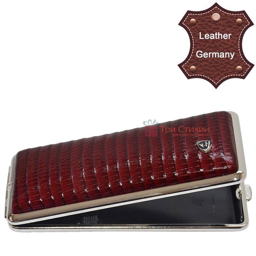 Портсигар VH 904338 для 8 KS / 12 Super KS сигарет шкіра Бордовий, фото 2