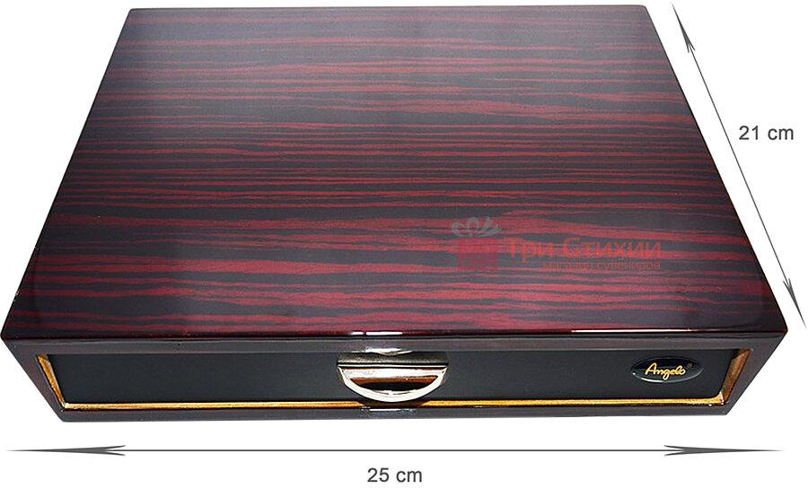 Х'юмідор Angelo на 10 сигар Темно-червоний (920016), фото 2