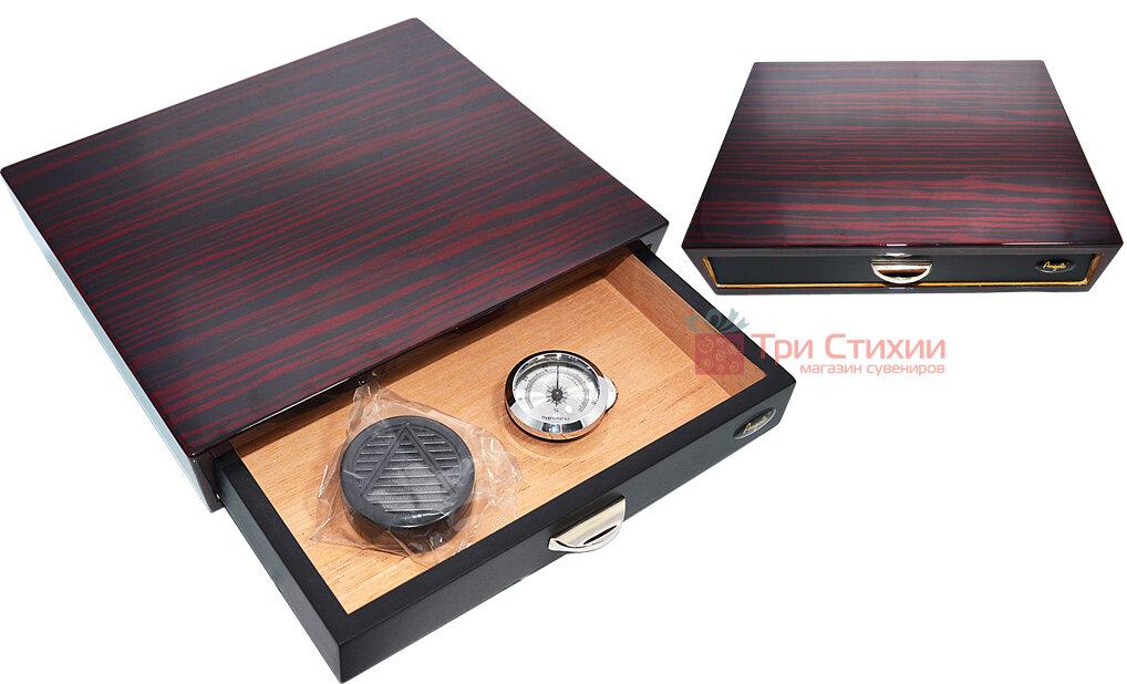 Х'юмідор Angelo на 10 сигар Темно-червоний (920016), фото 3