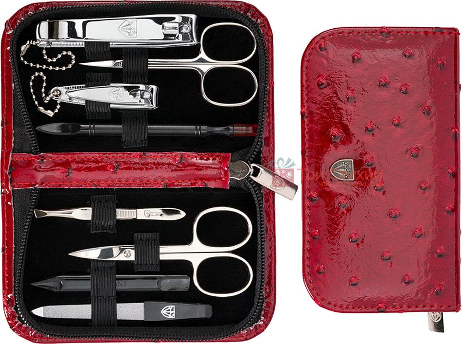 Маникюрный набор Kellermann 8 предметов 5211 MCN Красный, Цвет: Красный, фото