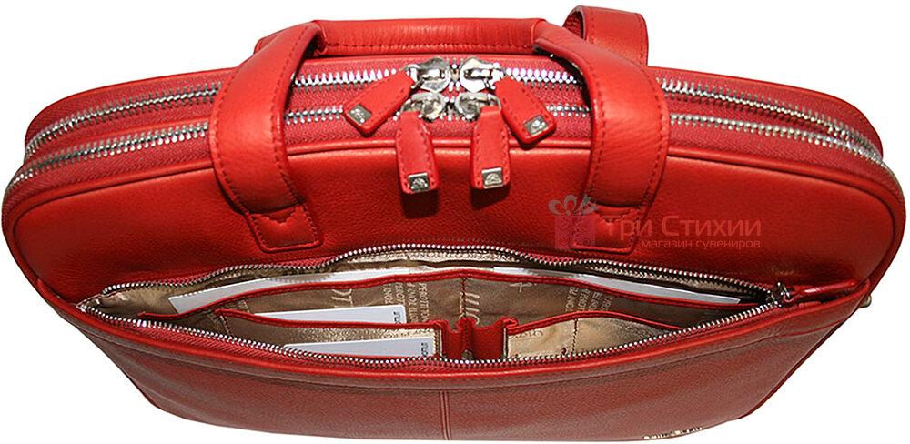 Сумка Tony Perotti Contatto 7044-40-Ct rosso Красная, фото 5