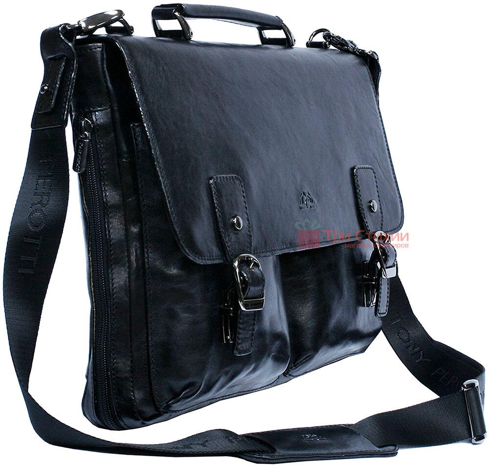Портфель Tony Perotti Italico 9338-it nero Чёрный, Цвет: Черный, фото