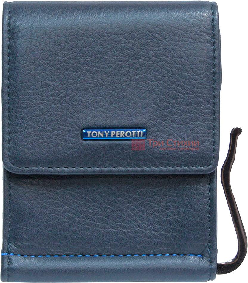 Затиск для грошей Tony Perotti New Contatto 3595-NC navy Синій, фото