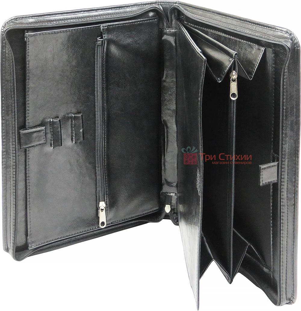 Папка-портфель ділова для документів Exclusive 711200 Чорна, фото 2