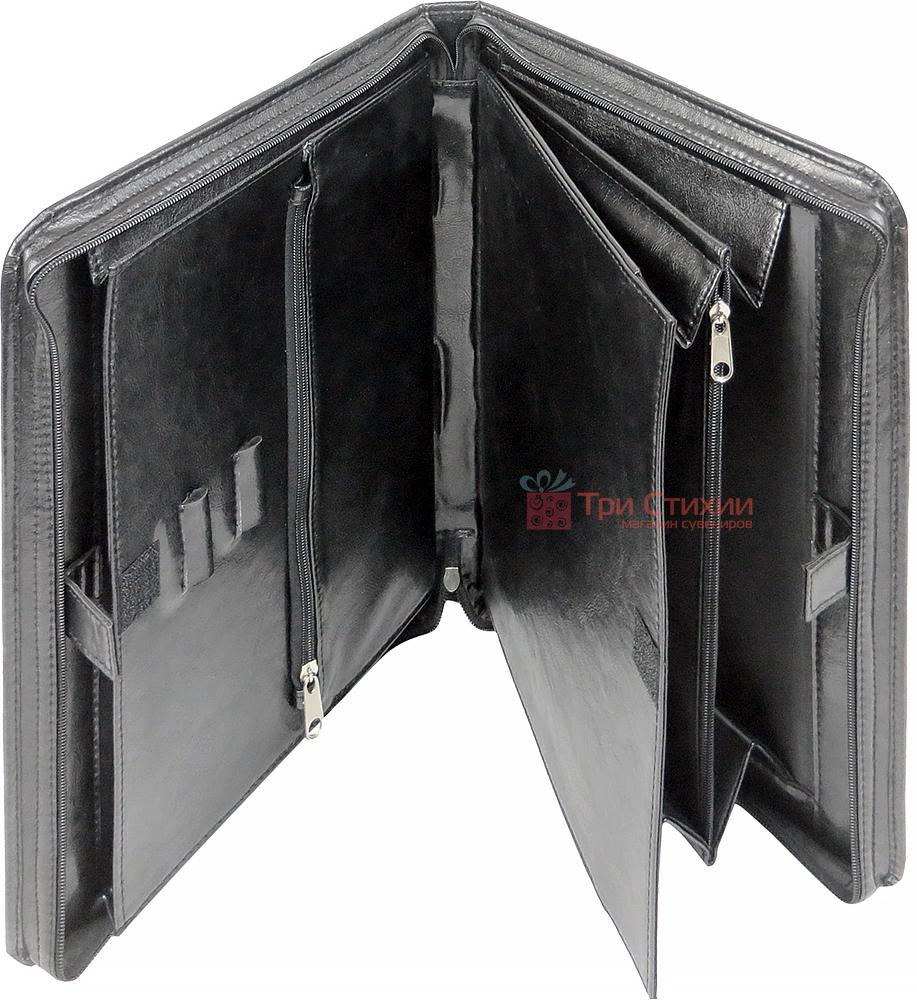 Папка-портфель ділова для документів Exclusive 711200 Чорна, фото 3