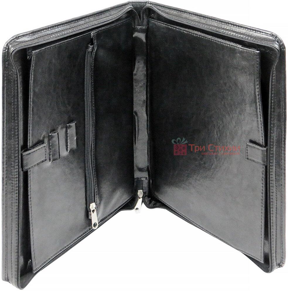 Папка-портфель ділова для документів Exclusive 711200 Чорна, фото 4