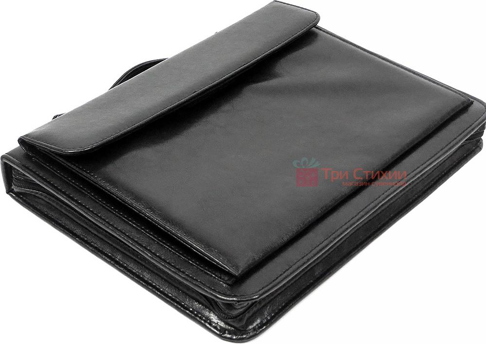 Папка-портфель ділова для документів Exclusive 711200 Чорна, фото 6