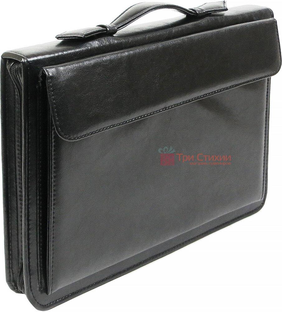 Папка-портфель ділова для документів Exclusive 711200 Чорна, фото