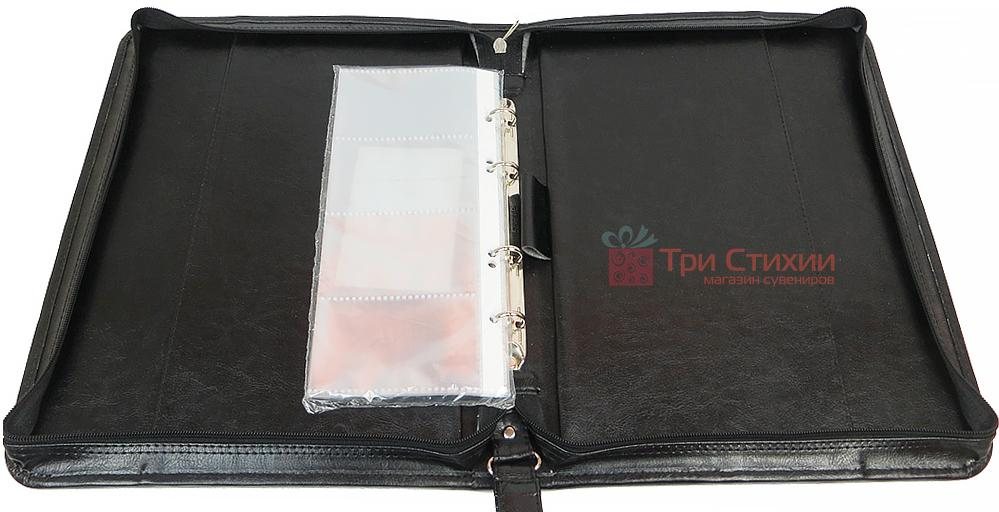 Папка деловая для документов Exclusive 712100 Черная, фото 2