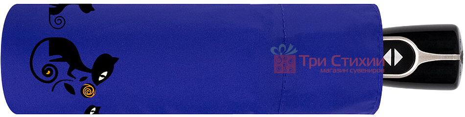 Парасолька складана з котами Doppler 7441465CO1 автомат Синя, фото 2