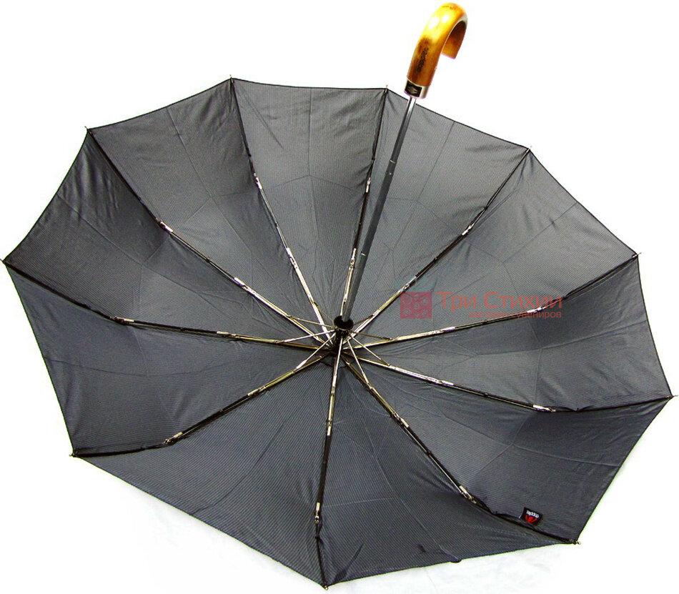 Зонт складной Doppler 10 спиц 74867FG-1 полный автомат Черный, фото 4