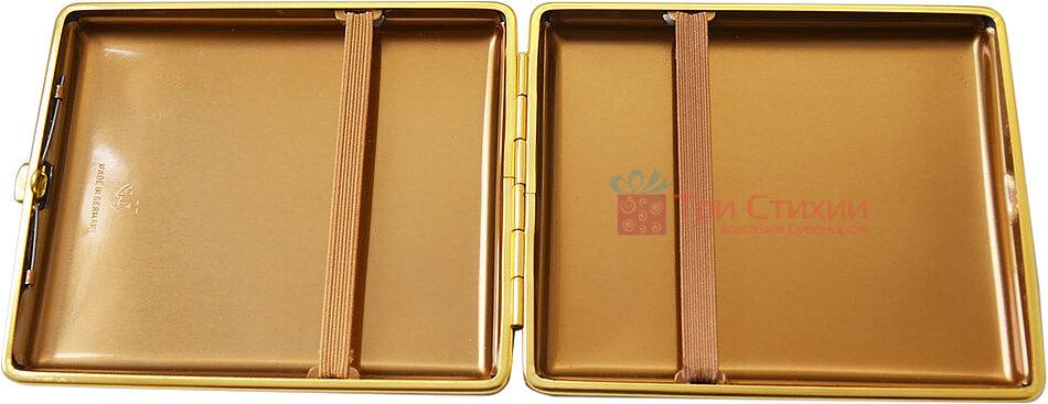 Портсигар VH 905101 для 22 KS / 26 слім сигарет шкіра Чорний, фото 2