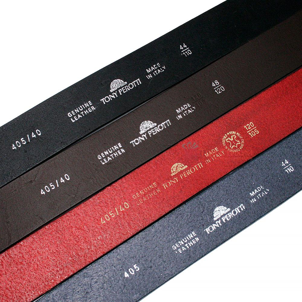 Ремень мужской Tony Perotti Cinture 405 nero Черный 110 см, фото 2