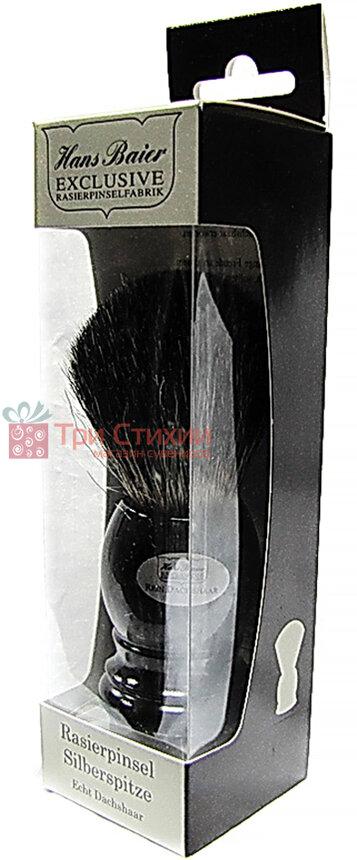 Помазок борсук для гоління Hans Baier 51011 Чорний, фото 2