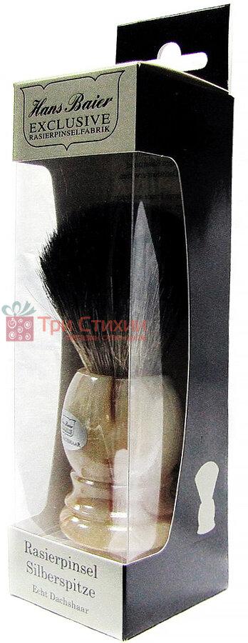 Помазок барсук для бритья Hans Baier 51341 Бежевый, фото 2