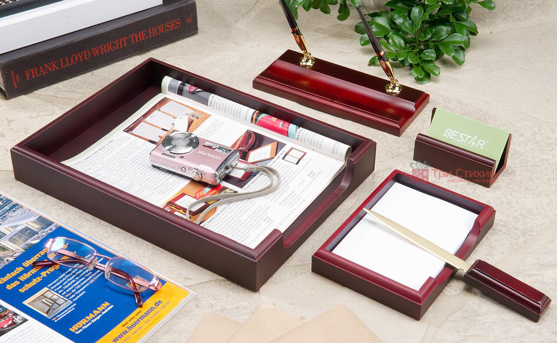 Набір настільний Bestar 5 предметів Червоне дерево 5159XDU, Колір: Червоне дерево, фото