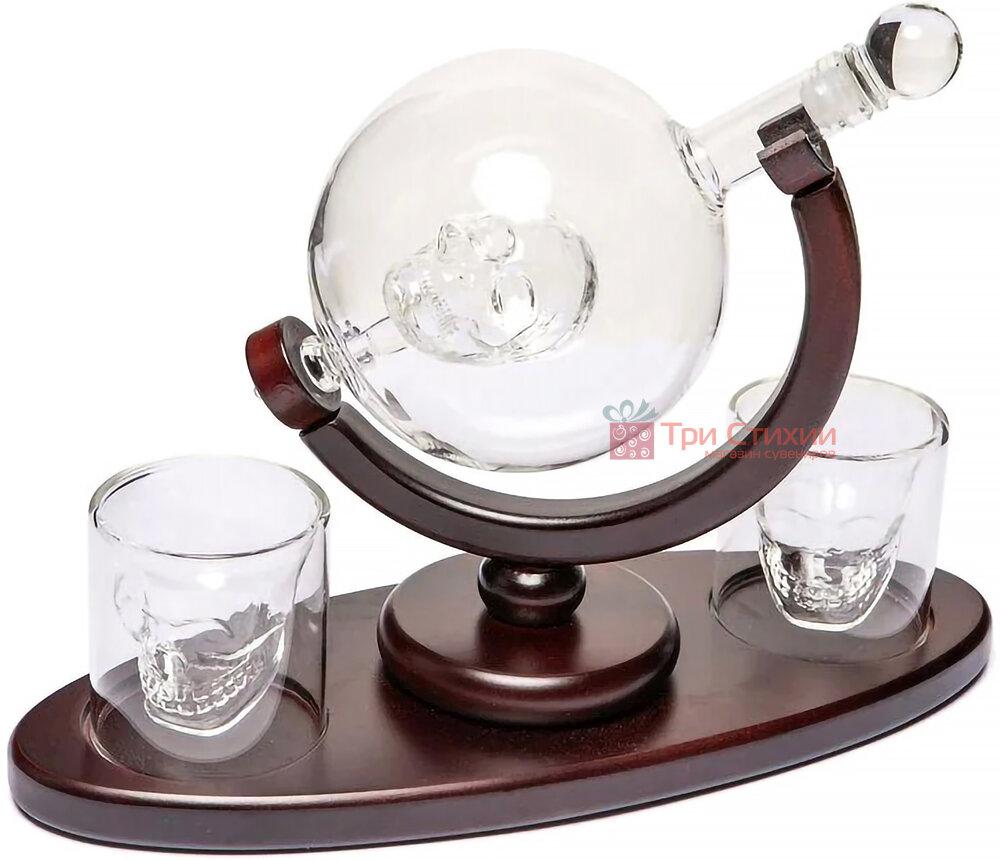 """Набір для віскі BST """"Доктор Фауст"""" штоф скло 850 мл і 2 склянки (640002), фото 3"""