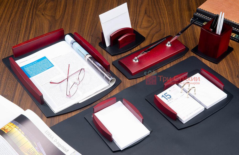 Набор настольный Bestar из дерева 7 предметов 7184HDU Красное дерево, фото