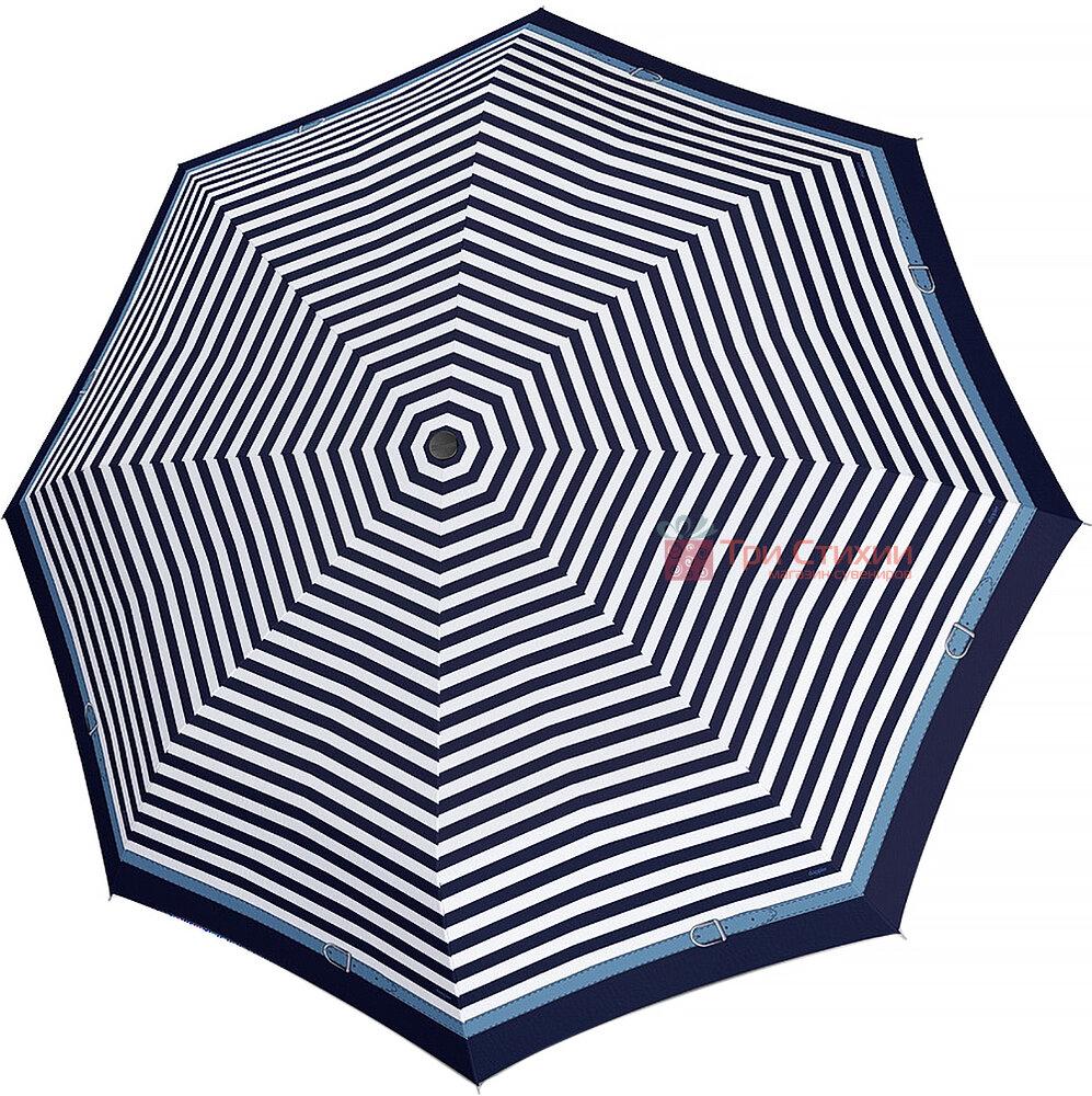 Зонт складной Doppler Carbonsteel 744865D01 полный автомат Синий кант, фото