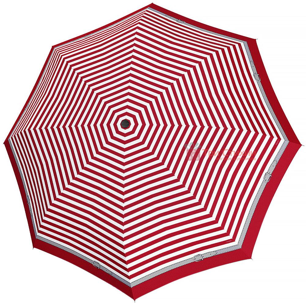 Зонт складной Doppler Carbonsteel 744865D03 полный автомат Красный кант, фото