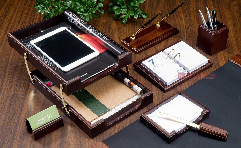 Набор настольный Bestar 8 предметов Орех 8259 XDX, Цвет: Орех, фото