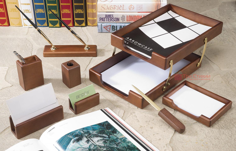 Настольный набор Bestar 8 предметов Орех 8280 WDN, Цвет: Орех, фото