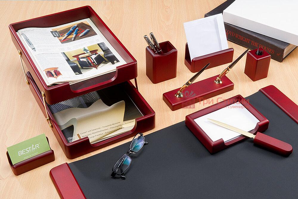 Набір настільний Bestar 9 предметів 9280 WDM Червоне дерево, фото