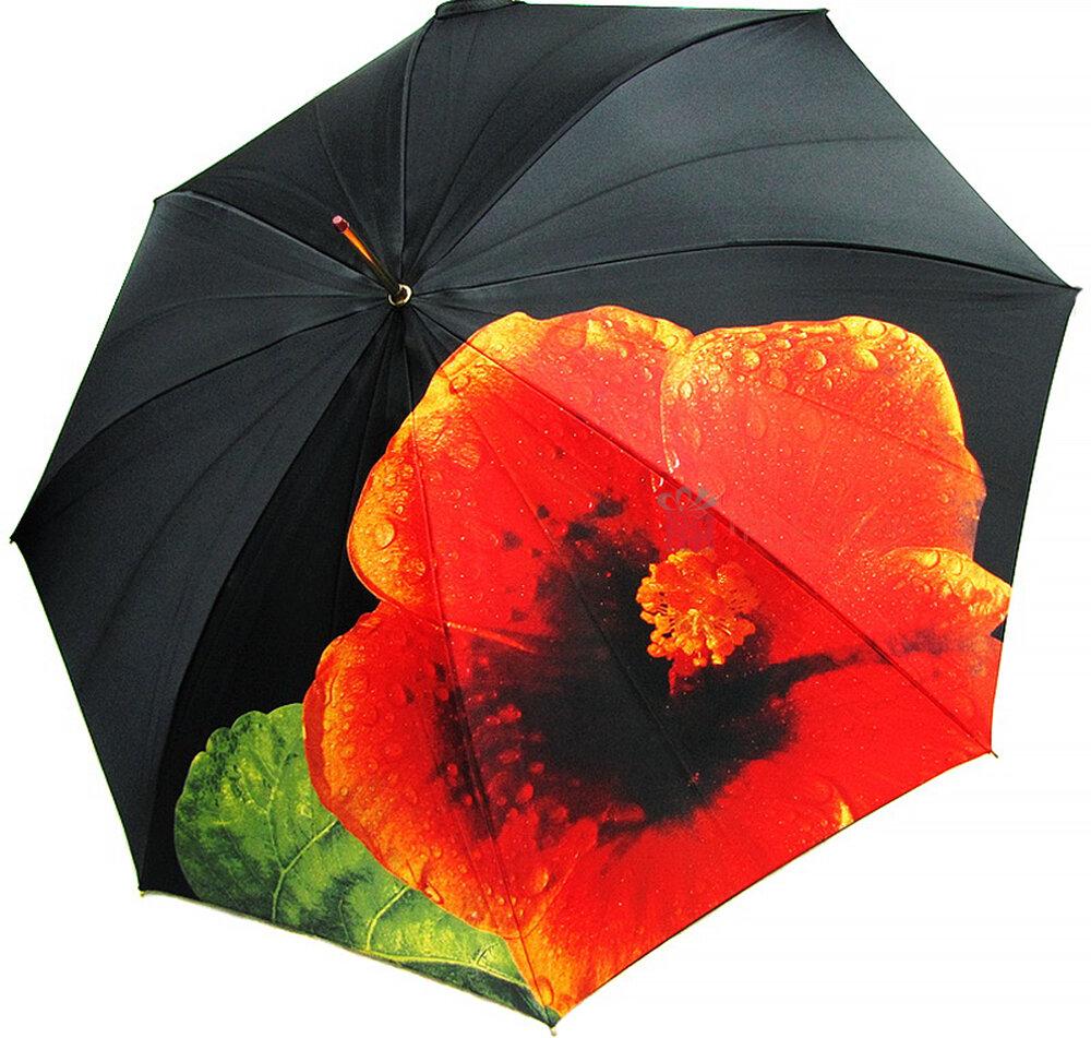 Зонт-трость Doppler 12021-Hibiskus полуавтомат Гибискус, фото