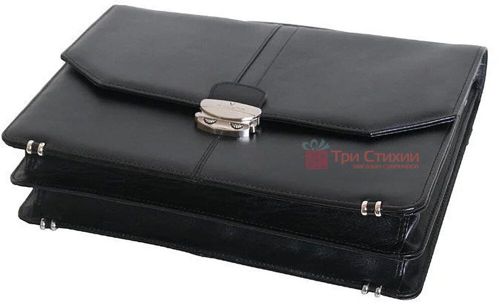 Портфель Vip Collection кожаный 1240.A Черный, фото 3