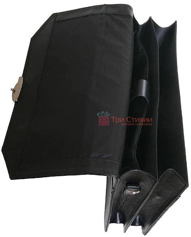Портфель Vip Collection кожаный 1240.A Черный, фото 4