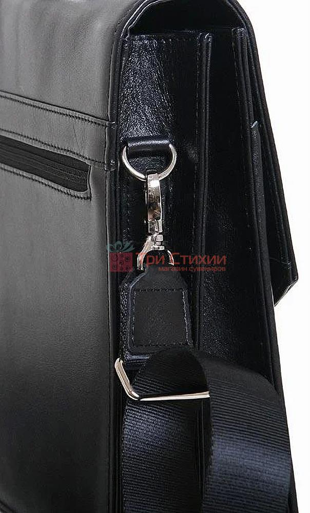 Портфель Vip Collection кожаный 1240.A Черный, фото 5