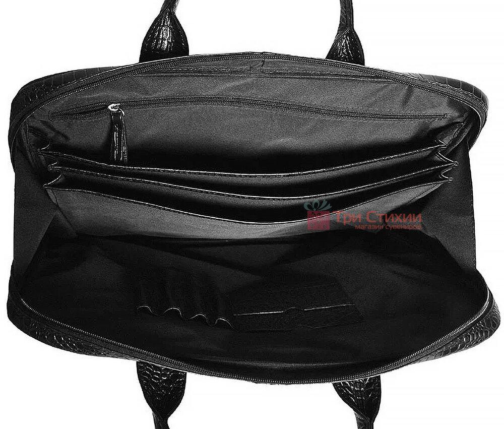 """Сумка кожаная для ноутбука 15,6"""" Vip Collection 2411.A.CROC Черная, фото 5"""