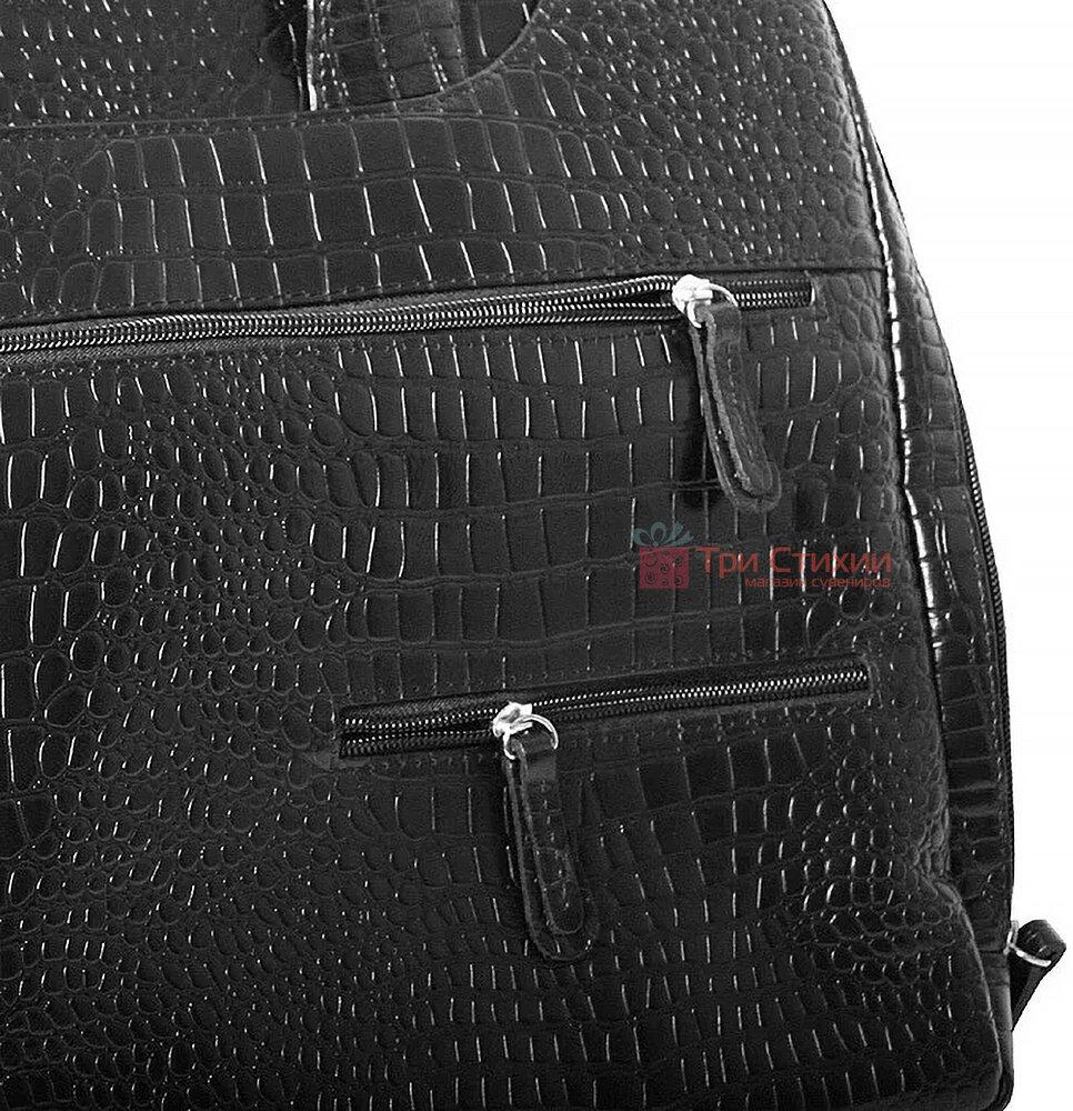 """Сумка кожаная для ноутбука 15,6"""" Vip Collection 2411.A.CROC Черная, фото 8"""