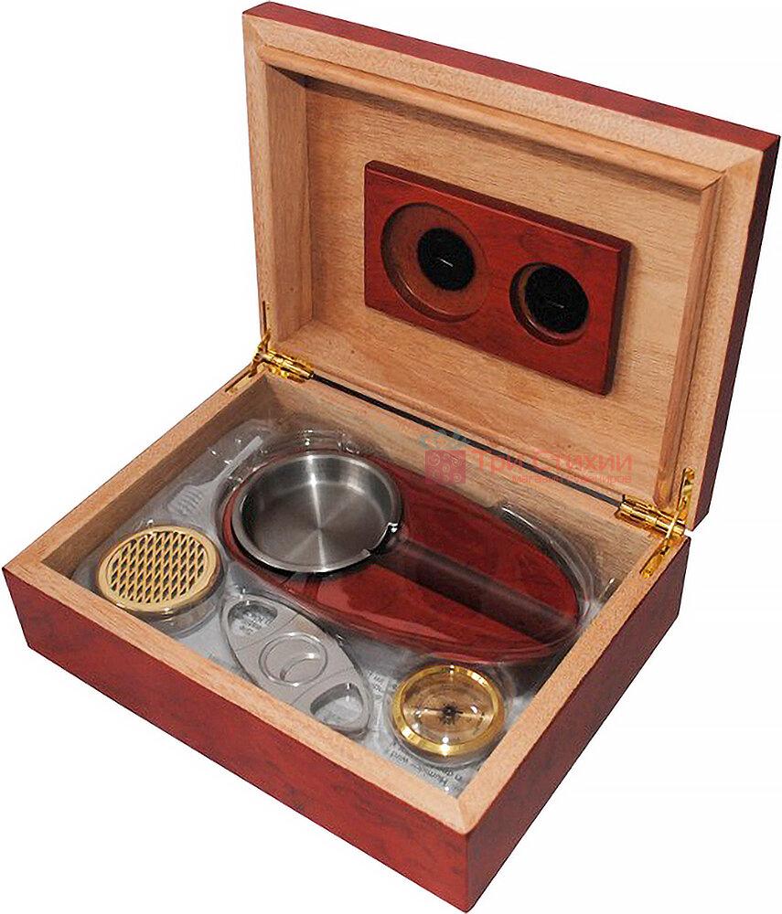 Х'юмідор Platner на 12 сигар Червоний (600214), фото