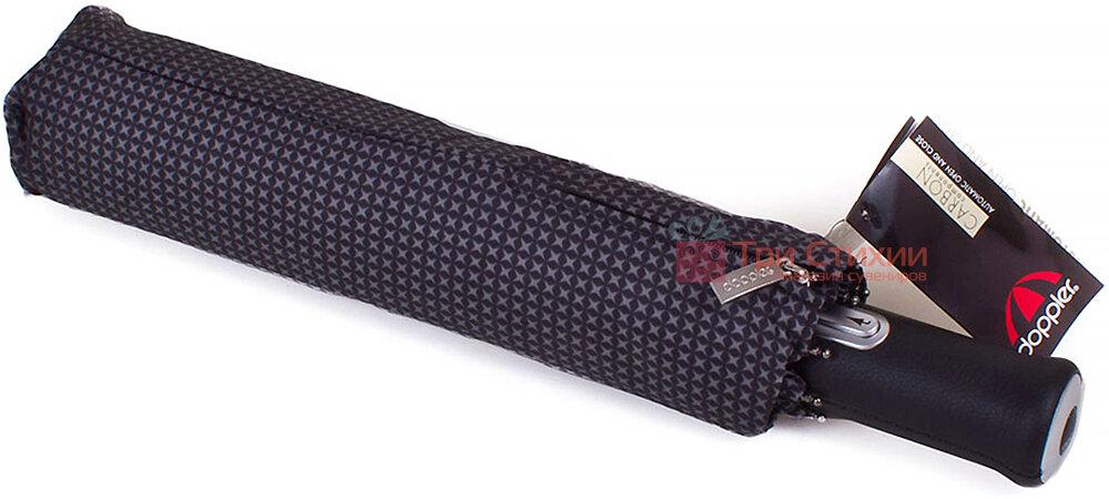 Зонт складной Doppler 743067-1 автомат Серый ромб, фото 4