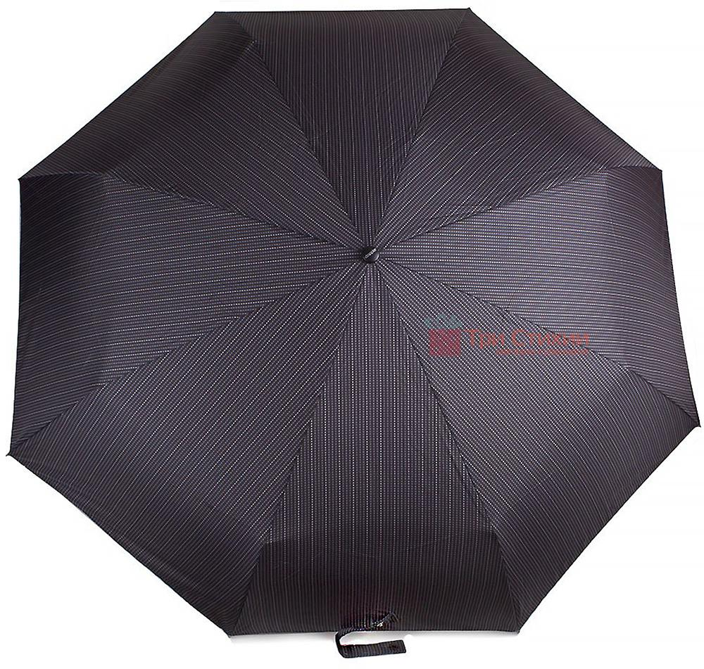 Зонт складной Doppler 743067-4 полный автомат Серая полоска, Цвет: Серый, фото 2