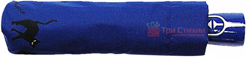 Парасолька складана з котами Doppler 7441465C-4 автомат Синя, фото 2