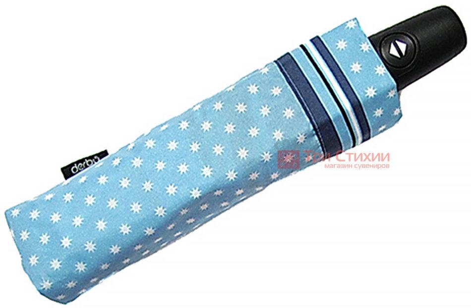 Зонт складной Derby 744165PS-1 автомат Голубой, Цвет: Голубой, фото 2